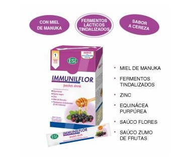 ESI IMMUNILFLOR POCKET DRINK 16U